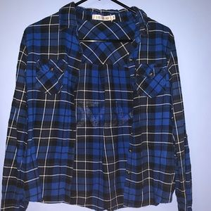 Tops - Blue Nuvo flannel